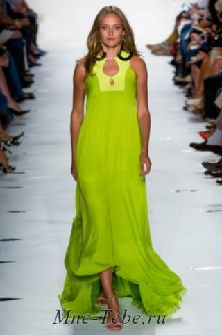 Смотреть онлайн фото платьев салатового цвета