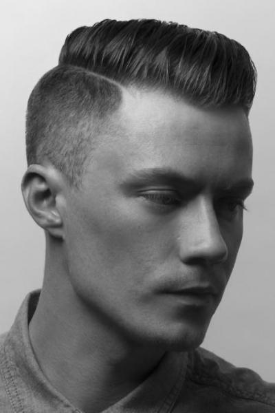 мужские стрижки фото на бок