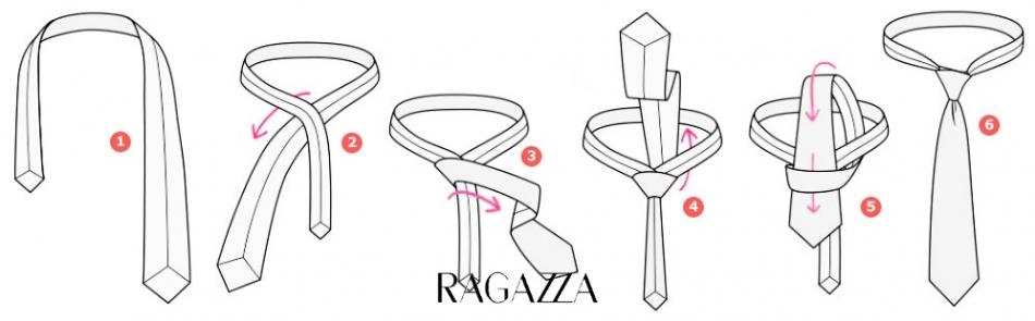 как завязать галстук картинки пошагово