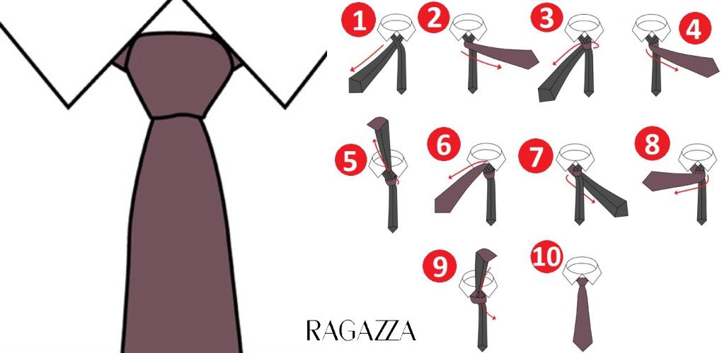 Как завязывать галстук